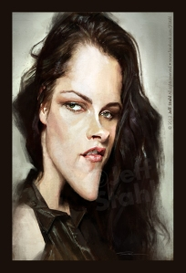 Kristen Stewart caricature by ©Jeff Stahl All rights reserved