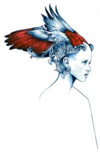 angel max gregor watercolor on paper