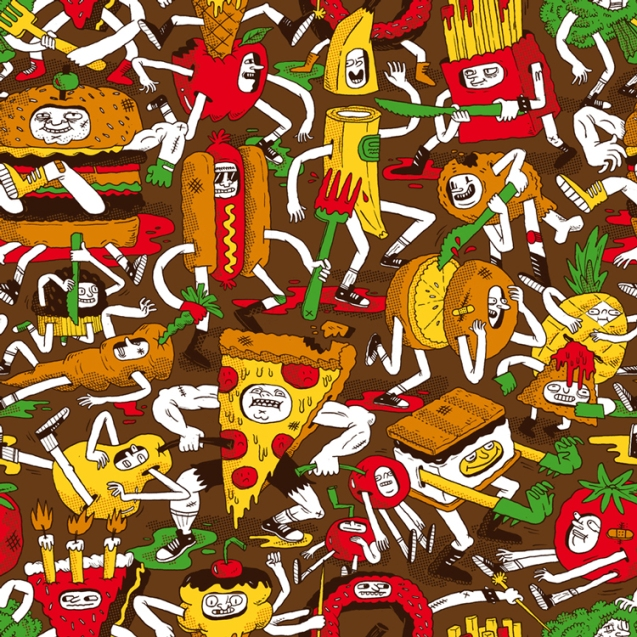 Greg_Kletsel_junk_food_fight_illustration_905