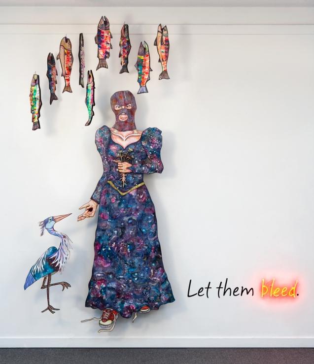 Nancy Elliott- installation at the Richnond Art Center