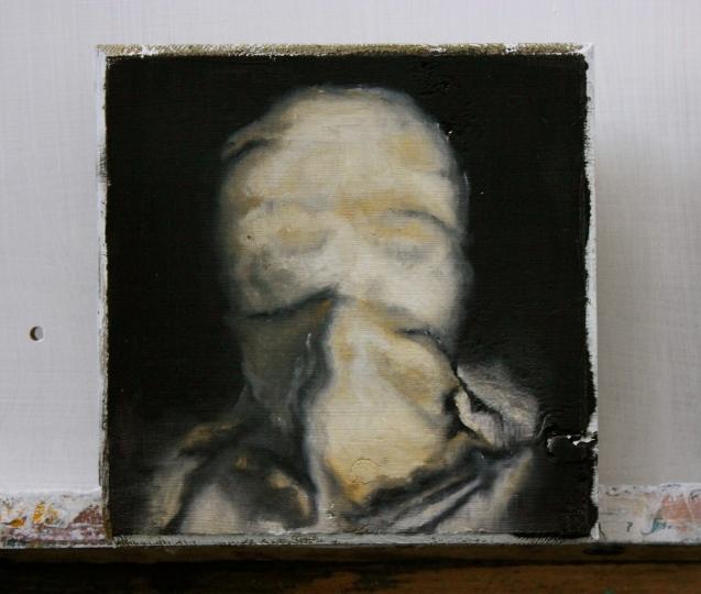 'Untitled 2' oil on wood block