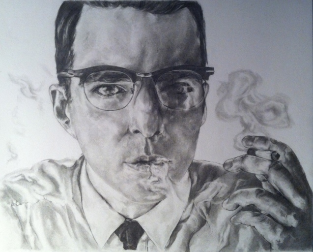 'Zachary Quinto' pencil on paper