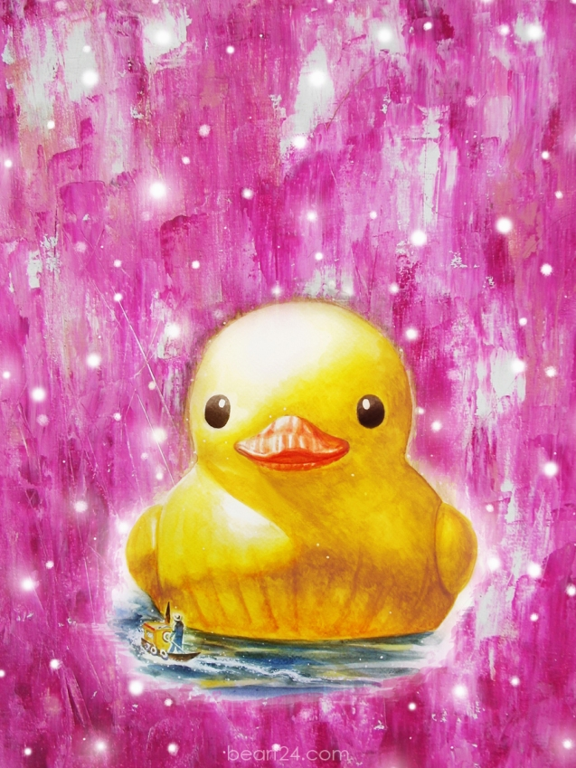 Giant Duck pink